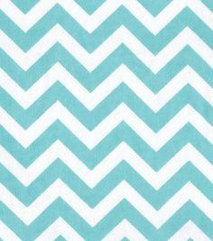 Snuggle Flannel Fabric Aqua Chevron