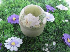 Pin Cushion - Pin Cushion Box - Ceramic Box - Floral Box - Made In Scotland - Vintage Box - Trinket Box - Jewellery Box - Keepsake Box by MissieMooVintageRoom on Etsy