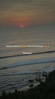 Indie Quotes, Ex Quotes, Caption Quotes, Mood Quotes, Qoutes, Baby Boy Hats, Ocean Sunset, Rose Wallpaper, Quotes Indonesia