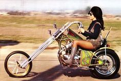Classic Harley-Davidson chopper with amazing drop handle bars. Think it would be comfortable for long straight rides.