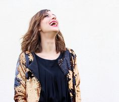 Huguette Paillettes   Couture - Veste sequins - Pretty Mercerie