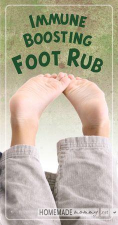 Immune Boosting Foot Rub   www.homemademommy... #essentialoils #diybeauty