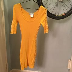 Marciano - yellow spandex dress XS Snaps at both arms and left side.  Gorgeous material and color excellent condition Marciano Dresses