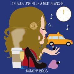 """le mug """"fille à nuit blanche"""" by Natacha Birds"""