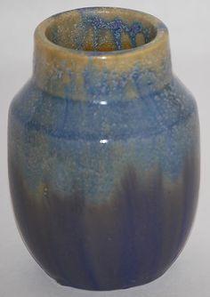 Fulper Pottery Blue Crystalline Vase from Just Art Pottery