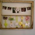 Old window for pictures/bows