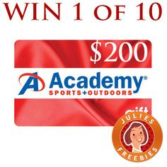 Win 1 of 10 $200 Academy Sports Gift Cards