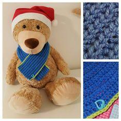 Blueberry blue  baby crochet scarf ---♤süsser blauer gehäkelter schal♤---