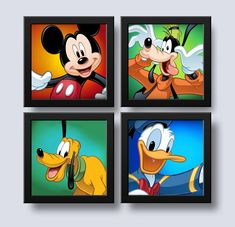 Disney Mickey Mouse, Mickey Mouse E Amigos, Mickey Mouse Room, Mickey Mouse Clubhouse Party, Mickey Party, Mickey Mouse And Friends, Disney Diy, Baby Disney, Britto Disney