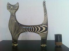 Abraham Palatnik - Gato Em Pé Grande 19x17 Ass Peça - R$ 1.500,00 no MercadoLivre