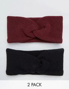 ASOS | ASOS - Confezione da 2 fasce per capelli lavorate a maglia