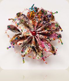 Recycled textiles art