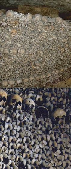 Catacombs, Paris There are the bones of more bodies down here than people who currently live in Paris. http://www.HotelDealChecker.com