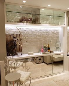 bathroom demolitionisentirely important for your home. Whether you choose the diy home decor for apartments or serene bathroom, you will create the best bathroom remodel beadboard for your own life. Home Living Room, Living Room Designs, Bar Sala, Serene Bathroom, Diy Home Decor For Apartments, Living Room Decor Inspiration, Home Bar Designs, Mini Bars, Interior Decorating