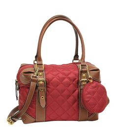 Take a look at this Burgundy & Brown Quilted Collins Satchel by Franco Sarto on today! Franco Sarto, Satchel, Burgundy, Take That, Goals, Gallery, Brown, Accessories, Fashion
