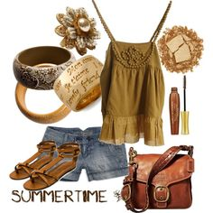 summer__, created by #black-angel16 on #polyvore. #fashion #style By Malene Birger American Eagle Outfitters