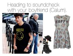 """""""Heading to soundcheck with your boyfriend (Calum)."""" by five-sos-imagines ❤ liked on Polyvore featuring Topshop, Alexia Crawford, Dorothy Perkins and MAC Cosmetics"""