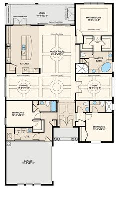1500 sq ft house plans open floor plan 2 bedrooms the for How big is a two car garage square feet