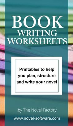 Book Writing Worksheets. I'm a big fan of worksheets and templates, so this is awesome for any writers like me! Use these worksheets to improve your writing. #WritingTips #WritersLife