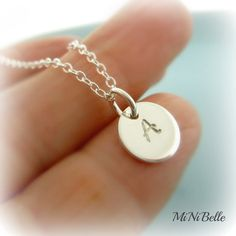 Personalized Initial Necklace. Monogram Necklace. by MiNiBelle, $24.00