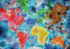 Artist Rachel Evans makes gorgeous poster-art with a spirograph
