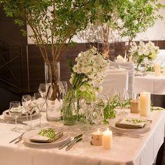 結婚式場写真「白とグリーンを使ったナチュラルなコーディネイト」 【みんなのウェディング】