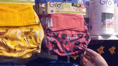Cassandra from GroVia Australia shows Darlings Downunder the new GroVia cloth nappy prints!