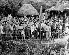 JUN  24 1945 Okinawa – US forces face a gruesome clear up - See more at: http://ww2today.com/Japanese POWs are photographed after capture and internment during the Battle of Okinawa. The 82-day-long battle lasted from 1 April 1945 until 22 June 1945. After a long campaign of island hopping, the Allies were approaching Japan, and planned to use Okinawa, a large island only  550 km (340 mi)  away from mainland Japan, as a base for air operations during the planned invasion of Japanese…