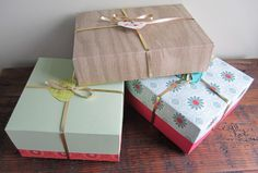 Card Stock Gift Box Tutorial.