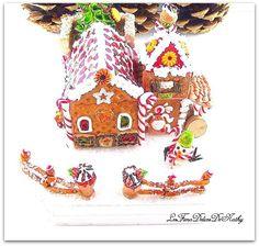 """décor de Noël """" Le chalet de pain d'épices"""" d' Hansel et Gretel : Accessoires de maison par lesfimodelicesdenathy"""
