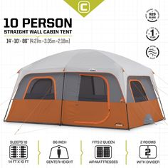 Columbia 174 Sportswear Fall River Instant Dome Tent Sleeps
