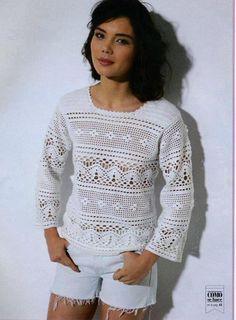 Irish crochet &: CROCHET PULLOVER.