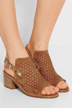 Rag & bone   Wyatt perforated suede sandals   NET-A-PORTER.COM