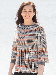 Port Orange Pullover crochet pattern from Annie's Craft Store. Order here: https://www.anniescatalog.com/detail.html?prod_id=137000&cat_id=468