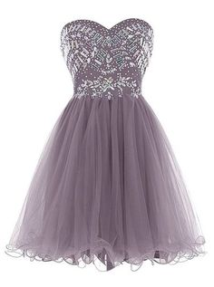 Strapless short Homecoming Dress with beadings,custom made,Sexy Sweetheart Homecoming Dress,Beading Evening Dress