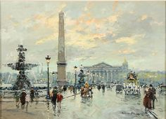 'Place de la Concorde' by Antoine Blanchard.