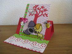 Verjaardagskaart Julia de W., 6 april 2012, Woezel en Pip Diy Cards, Homemade Cards, Birthday, Gifts, Birthdays, Presents, Cards Diy, Favors, Dirt Bike Birthday