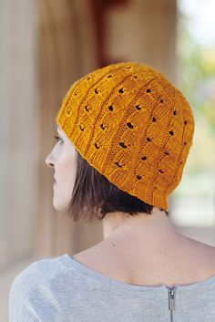 Bunodes crassicornis Hat by Hunter Hammersen. malabrigo Rios in Sunset colorway. Published in The Knitter's Curiosity Cabinet, Volume III.