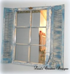 Image detail for -Upcycled Window Mirror