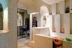 La salle de bains en mosaïque
