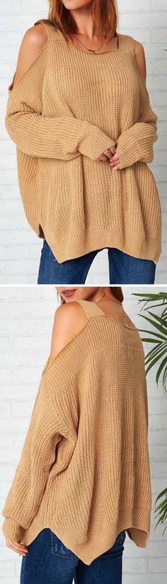 Only $25.99&Free shipping! We like warm solid color sweater. The off the shoulder and ribbed pattern are artistic. It's perfect for the early autumn. Find more hot items at Cupshe.com