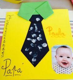 Regalo para el día del padre, con goma eva realizar tarjeta en forma de camisa, decorar con témpera y foto del niño