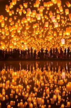 Festival of the lights in Thailand (Best Wedding  Engagement rings at www.brilliance.com)