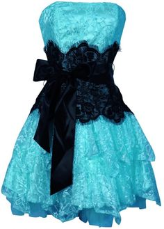 OMG I AM IN LOVE WITH THIS DRESS!!!!! Ruffle Strapless Lace Bridesmaid Dresses Blue