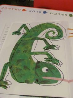 Tracing the chameleon onto transparency film