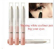 1 unids blanco perla lápiz delineador de ojos lápiz maquillaje Cosmetic glitter sexy Eye liner(China (Mainland))