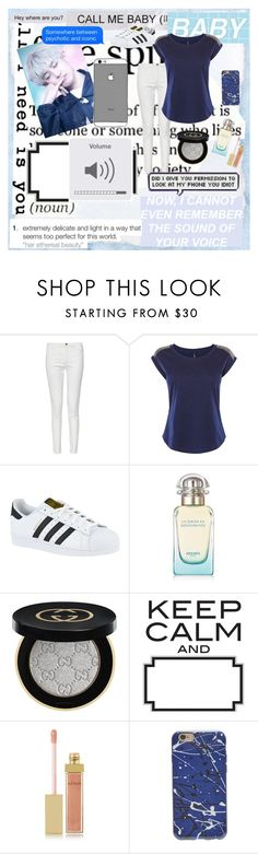 """Call Me Baby {Chanyeol}"" by lulus-bacon ❤ liked on Polyvore featuring beauty, French Connection, Karen Millen, adidas, Hermès, Gucci, AERIN, kpop, EXO and chanyeol"