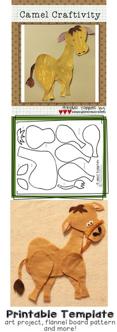 Fun camel craftivity, plus many other desert-themed activities.