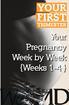 If you are newly pregnant or trying to conceive, you have many questions about what to expect. How will your body change? What's happening inside you? Our week-by-week guide will help you through your nine months of pregnancy so you can be a smarter, more confident, more prepared mom-to-be. Each week offers information about your body and the baby's as well as helpful advice you can use throughout your pregnancy. Let's start with a peek inside the womb.