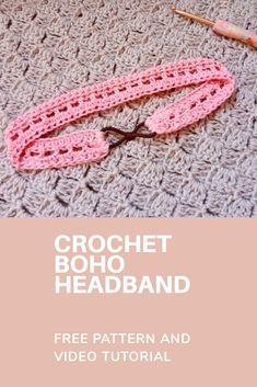 Easy Crochet Headbands, Crochet Headband Free, Baby Headbands, Crochet Geek, Crochet For Kids, Free Crochet, Free Knitting, Crochet Earrings Pattern, Crochet Patterns